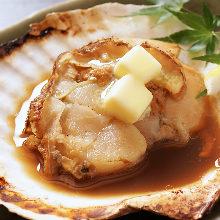 帆立のバター焼き
