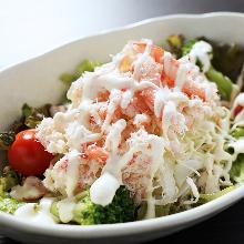 ズワイ蟹のサラダ