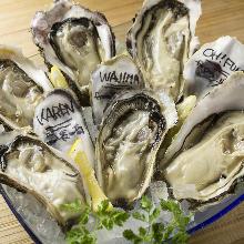 本日の生牡蠣の食べ比べセット3種