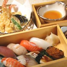 寿司、天ぷら御膳