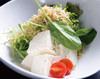 豆腐と揚げじゃこのサラダ