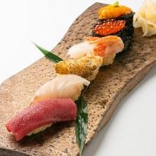 にぎり寿司盛り合わせ6種