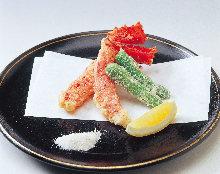 タラバガニの天ぷら