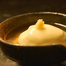 すくい豆腐の葛餡かけ