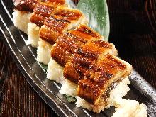 鰻の棒寿司