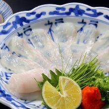 白身魚の薄造り