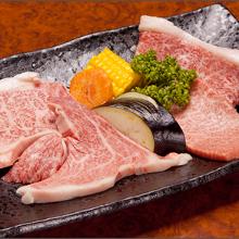 肉の食べ比べ