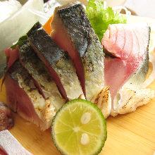 鯖の炙り焼き