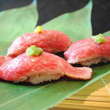 牛握り寿司盛り合わせ3種