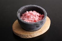 イチゴかき氷