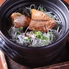 豚の角煮の炊き込みご飯