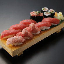 マグロの寿司盛り合わせ