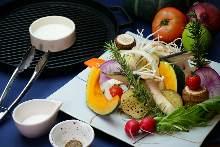 季節野菜のグリル
