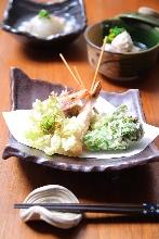 天ぷら盛り合わせ6種
