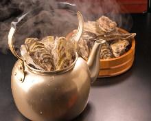 牡蠣の酒蒸し