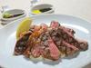 国産和牛のステーキ 2種のソース添え