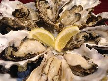 殻付き「牡蠣」(かき)のかんかん焼き