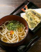 새우 튀김 우동