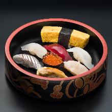 모둠 쥔 초밥 8가지