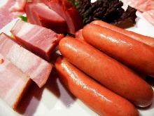 비엔나 소시지(고기 구이)
