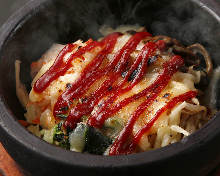 돌솥 치즈 비빔밥