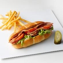 치킨 야채 샌드위치