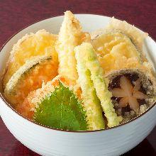 채소 튀김 덮밥