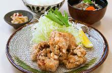 토종닭 튀김 정식