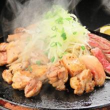 사쓰마 흑닭 용암 구이