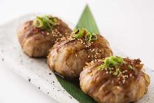 고기말이 주먹밥