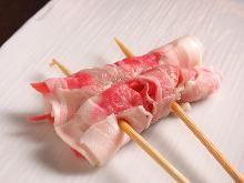 생강 고기말이 꼬치 구이