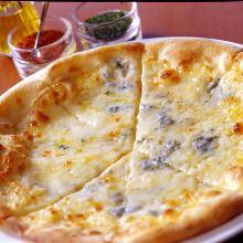 4가지 치즈 피자