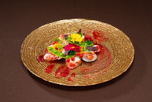 새우 야채 샐러드