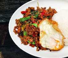태국식 다진고기 덮밥