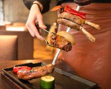 브라질 고기 꼬치