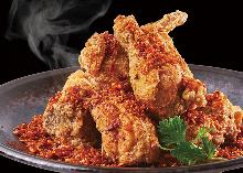 매운 맛 프라이드 치킨