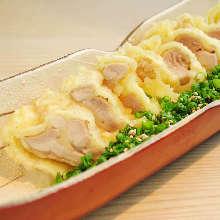 튀김 (닭고기,실파)