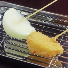 양파 꼬치 튀김