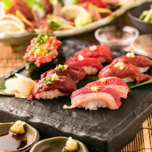 말고기의 붉은살 초밥