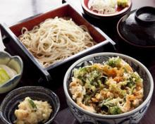 튀김 덮밥, 소바 세트
