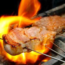 돼지고기 숯불 구이