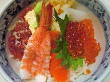 참치 갈빗살 해산물 덮밥