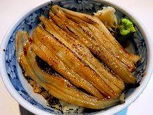 어린 장어(붕장어) 덮밥