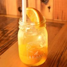 Mangojan and Fresh Orange Soda