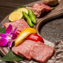 모둠 와규 붉은 고기 3가지