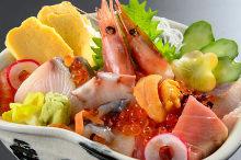 모둠 해산물 덮밥
