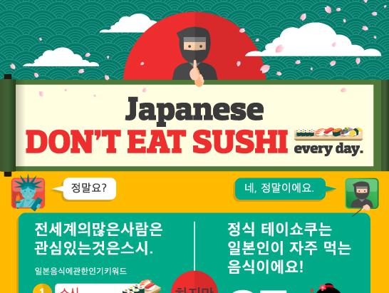 일본에서는「정식메뉴」가「스시」보다 더 낫다?!