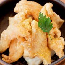 닭껍질 튀김