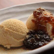 검은 조청 콩가루 아이스크림