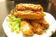 닭날개 매콤 참깨 튀김
